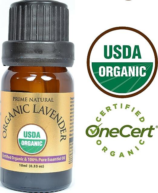 Prime Natural Organic Lavender Essential Oil