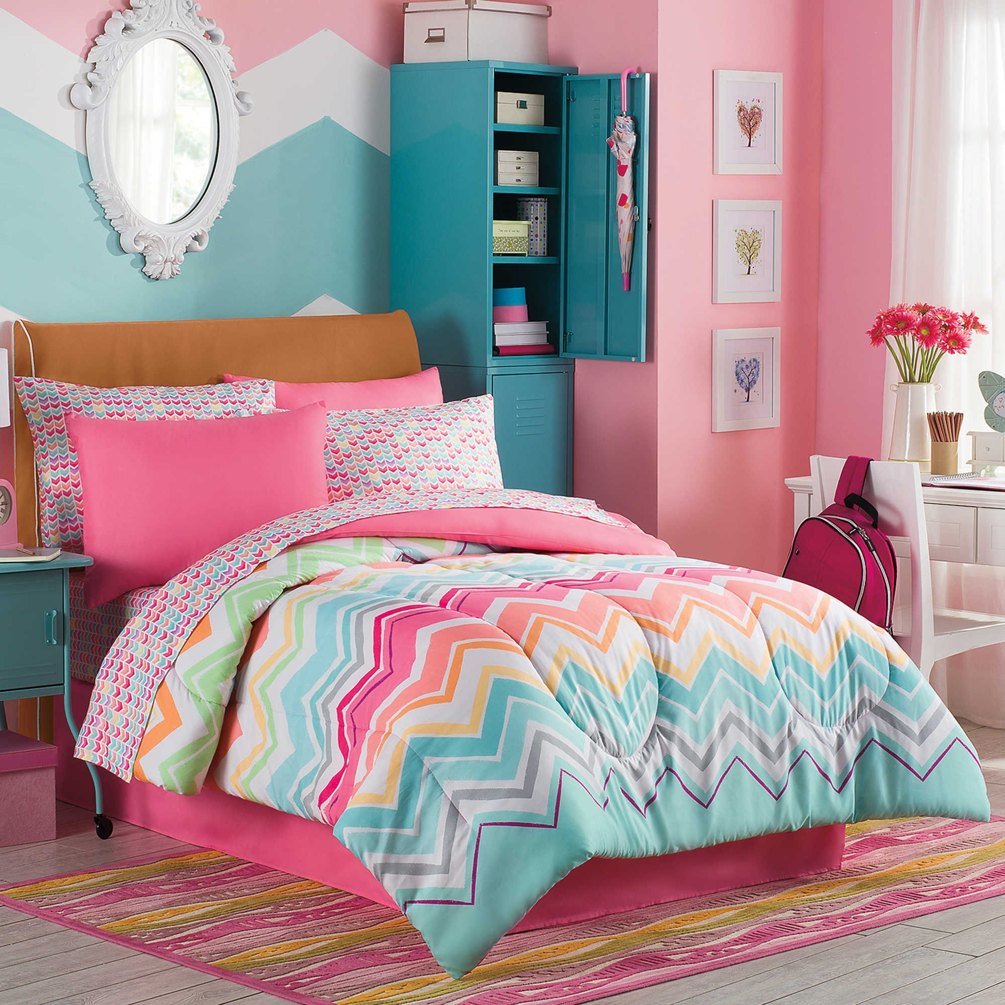 better ruffled homes sets gardens walmart comforter girl full bedding set and ip com flowers
