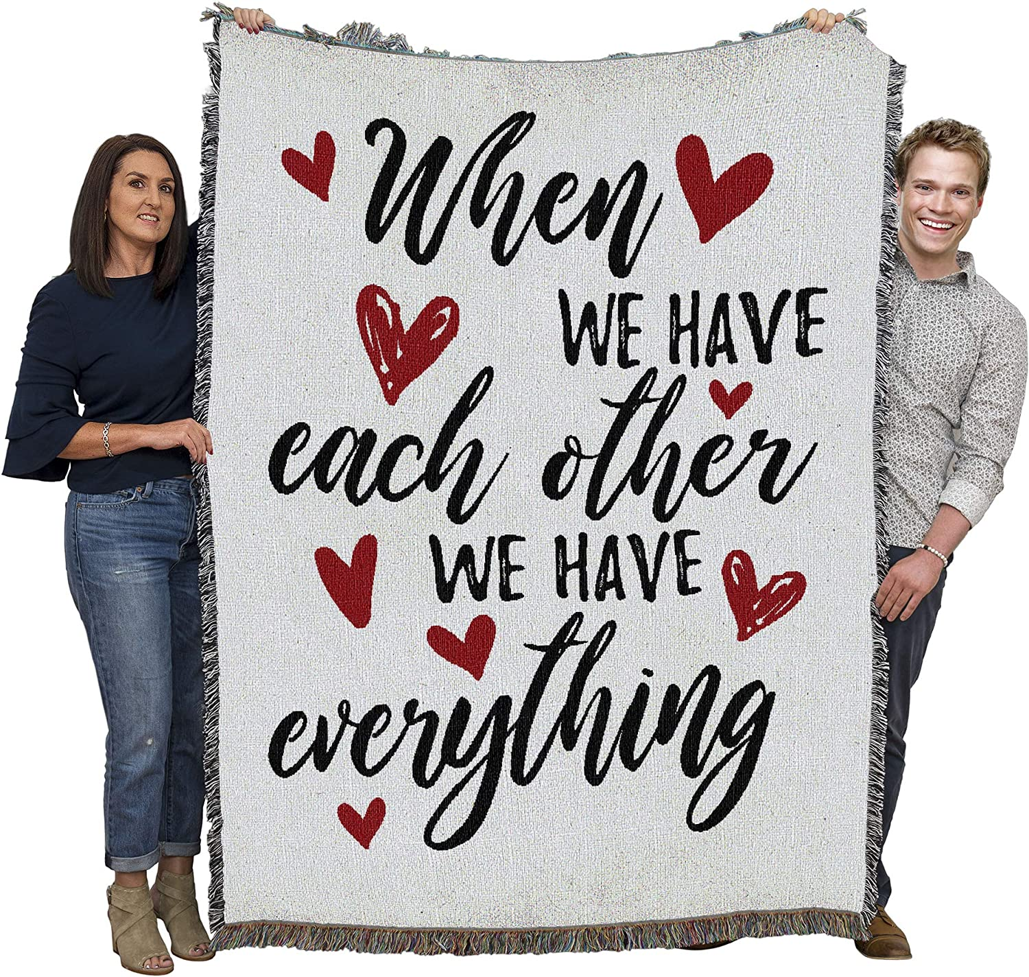 Pure Country Weavers Together we Have Everything Blanket Throw Woven from Cotton - Made in The USA (72x54)