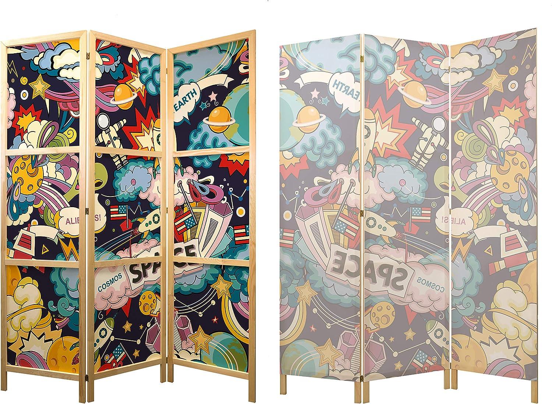 murando - Biombo XXL Graffiti Street Art 225x171 cm 5 Paneles Lienzo de Tejido no Tejido Tela sintética Separador Madera Design de Moda Hecho a Mano Home Office Japón e-B-0039-z-c: Amazon.es: Hogar