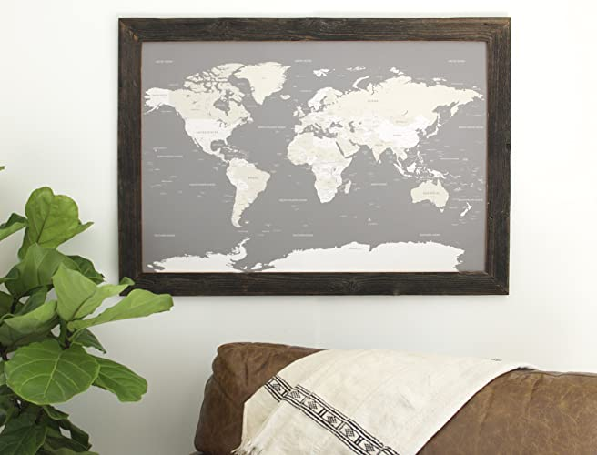 Amazon reclaimed world map large push pin travel map framed reclaimed world map large push pin travel map framed world map in handcrafted wood gumiabroncs Image collections