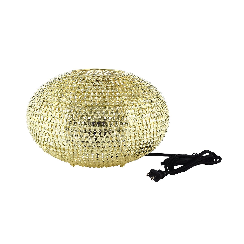 WE Furniture AZITL8GLONI Table Lamp Nickel