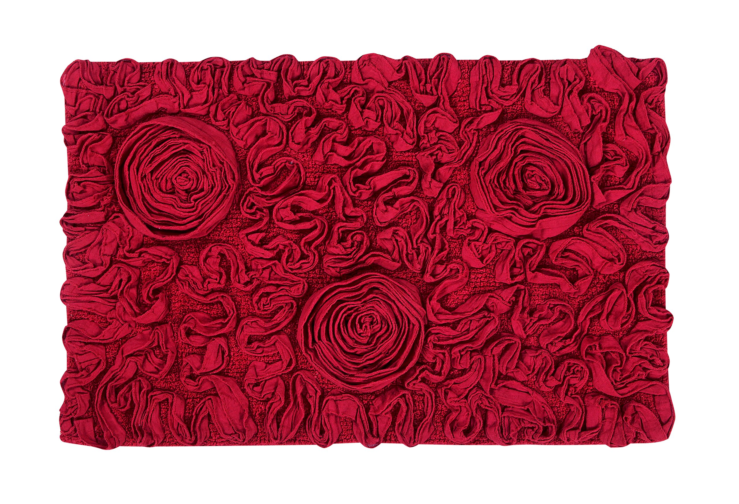 Home Weavers Bell Flower Rug, Red, 21'' x 34'' by Home Weavers (Image #1)