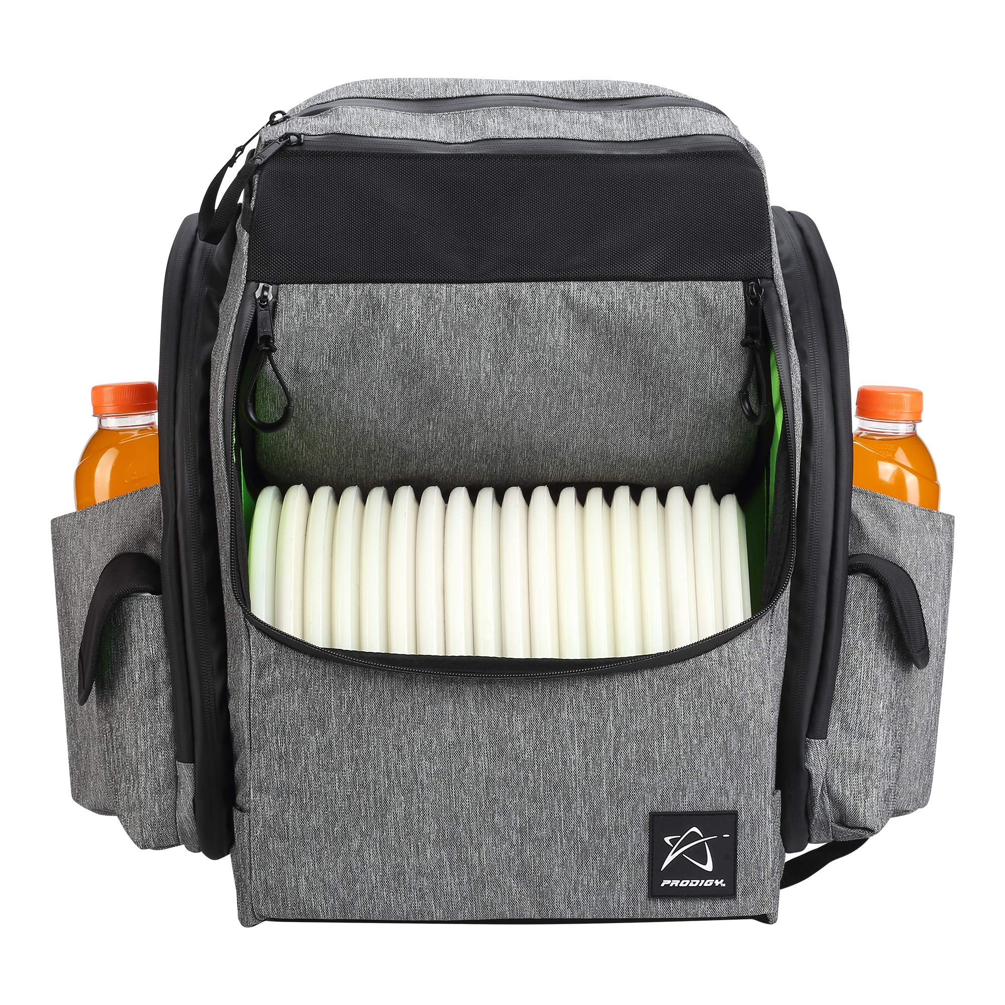Prodigy Disc BP-1 V2 Disc Golf Backpack Bag - Fits 30+ Discs - Pro Quality (Heather Gray/Black, No Rainfly) by Prodigy Disc
