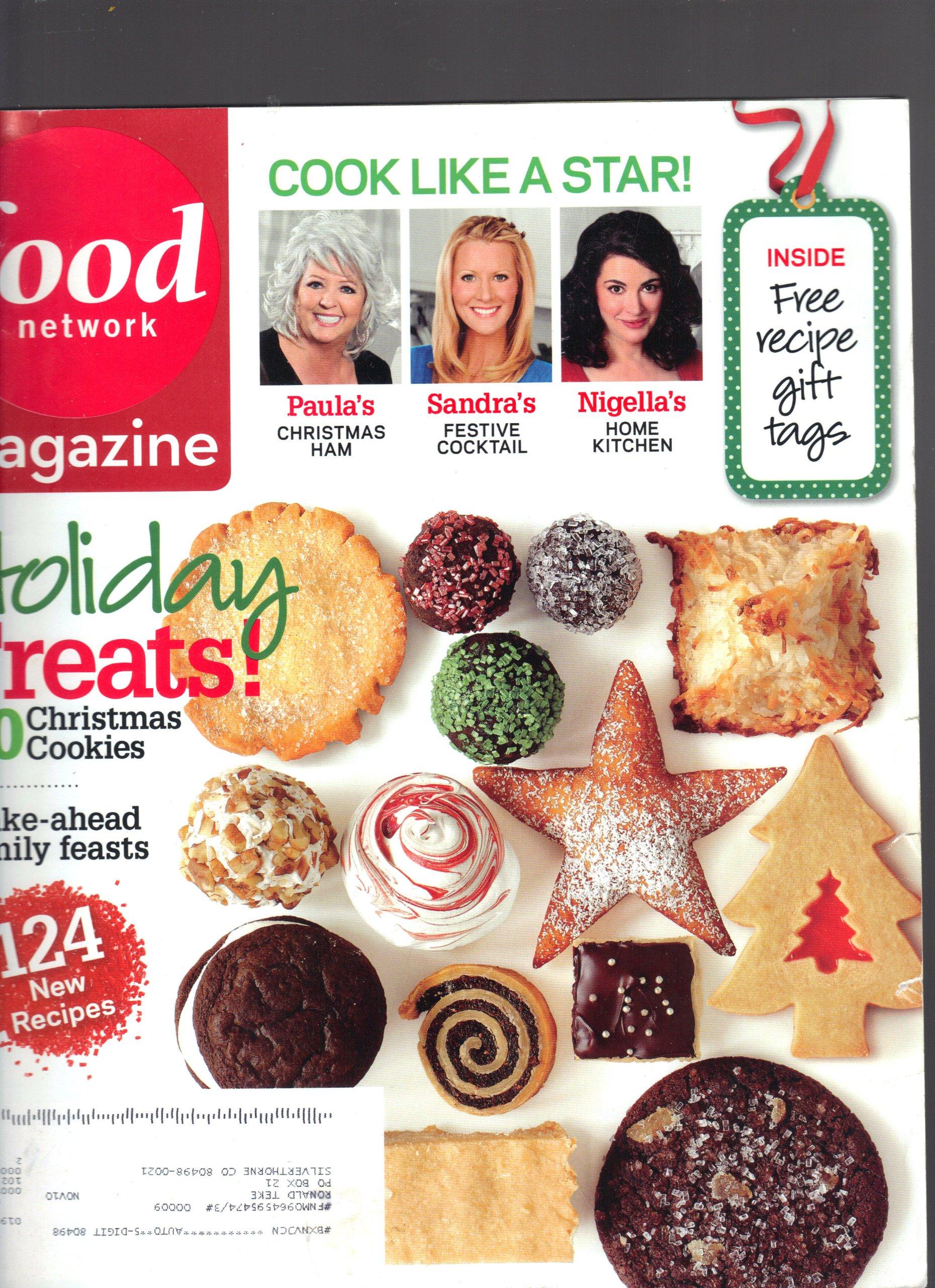 Food Network Magazine December 2009 Cook Like A Star Make Ahead