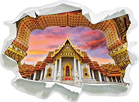 Marble Temple In Bangkok Paper 3d Wall Sticker Size 92x67 Cm Wall