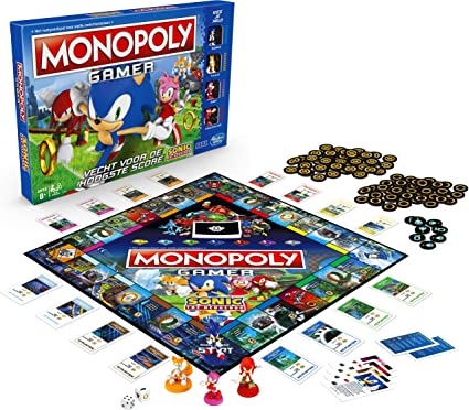 Amazon Com Monopoly Gamer Sonic The Hedgehog Edition Board Game For Kids Ages 8 Up Sonic Video Gamer Themed Board Game Toys Games