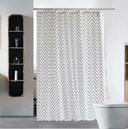 SLattye Elegant Shower Curtain Liner Water Repellent Fabric Mildew Resistant Washable Cloth Hotel