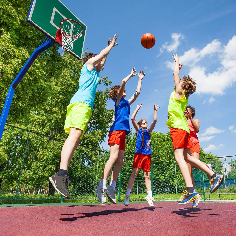 Hsei Filet de Basketball Lourd Filet de Basketball Tout Temps de Remplacement Convient /à lInt/érieur ou /à lExt/érieur Standard 12 Boucles