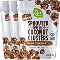 Go Raw Sprouted Seed Coconut Clusters Superfood Dark Chocolate, 9 Ounce (Pack of 3)