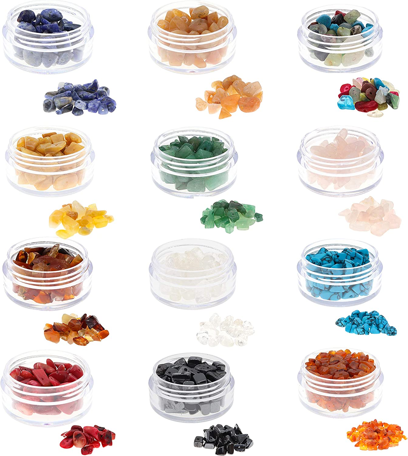 Fun Weevz 180 240 Pcs Natural Gemstone Beads For Jewelry Making Adults Semiprecious Stone Chips For Bracelets And Necklaces Chakra Stones For Healing Jewelry Arts Crafts Sewing