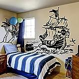 Wandtattoo Pirat Piratenschiff Schatztruhe Insel Schatzinsel Kinderzimmer M1314 ilka parey wandtattoo-welt®