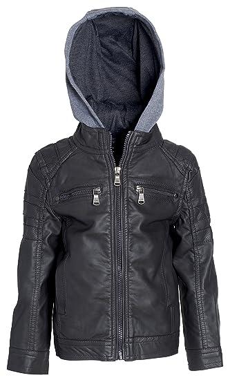 ad9cb6c24ad8 Urban Republic Todder   Big Boys Faux Leather Moto Biker Jacket with ...