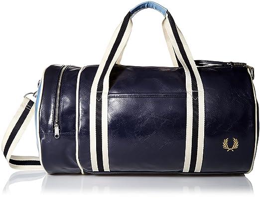 en venta 6d882 11328 Fred Perry Contraste raya clásico barril bolsa Marina De Guerra