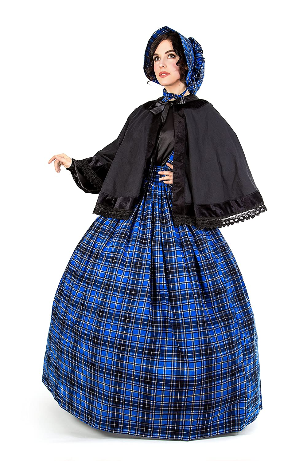 Old Fashioned Dresses | Old Dress Styles Reminisce Plaid Tartan Dickens Civil War Costume $89.99 AT vintagedancer.com