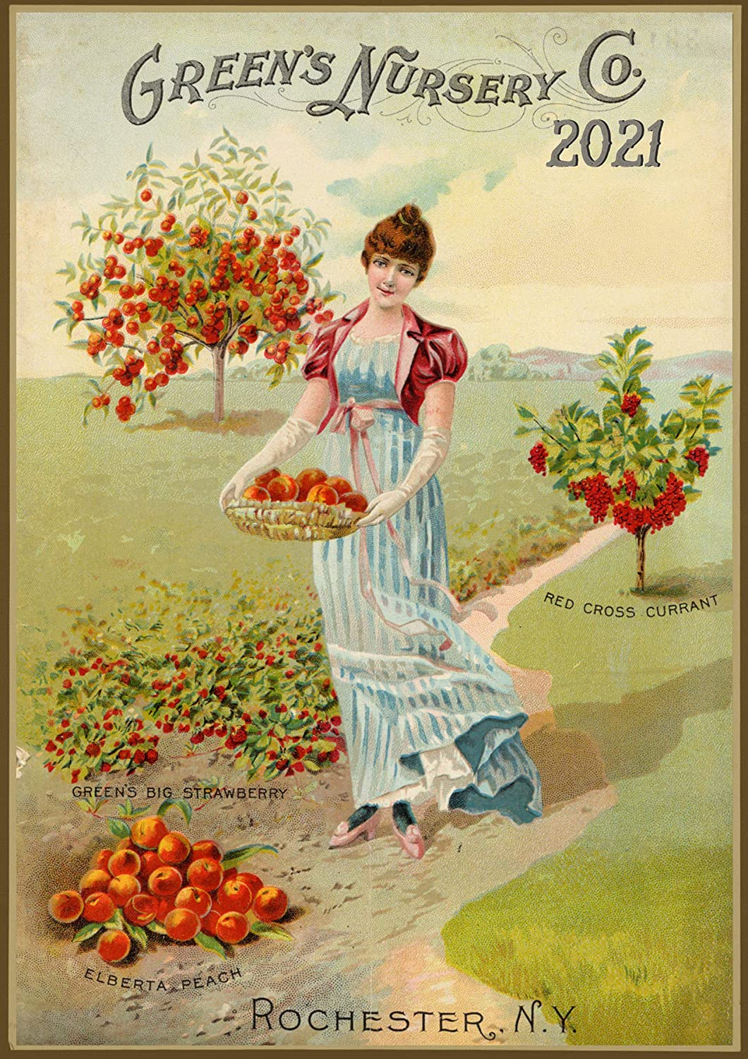 """Pixiluv 2021 Wall Calendar [12 pages 8""""x11""""] Fruits and Veges Garden Vintage Seed Pocket Poster"""
