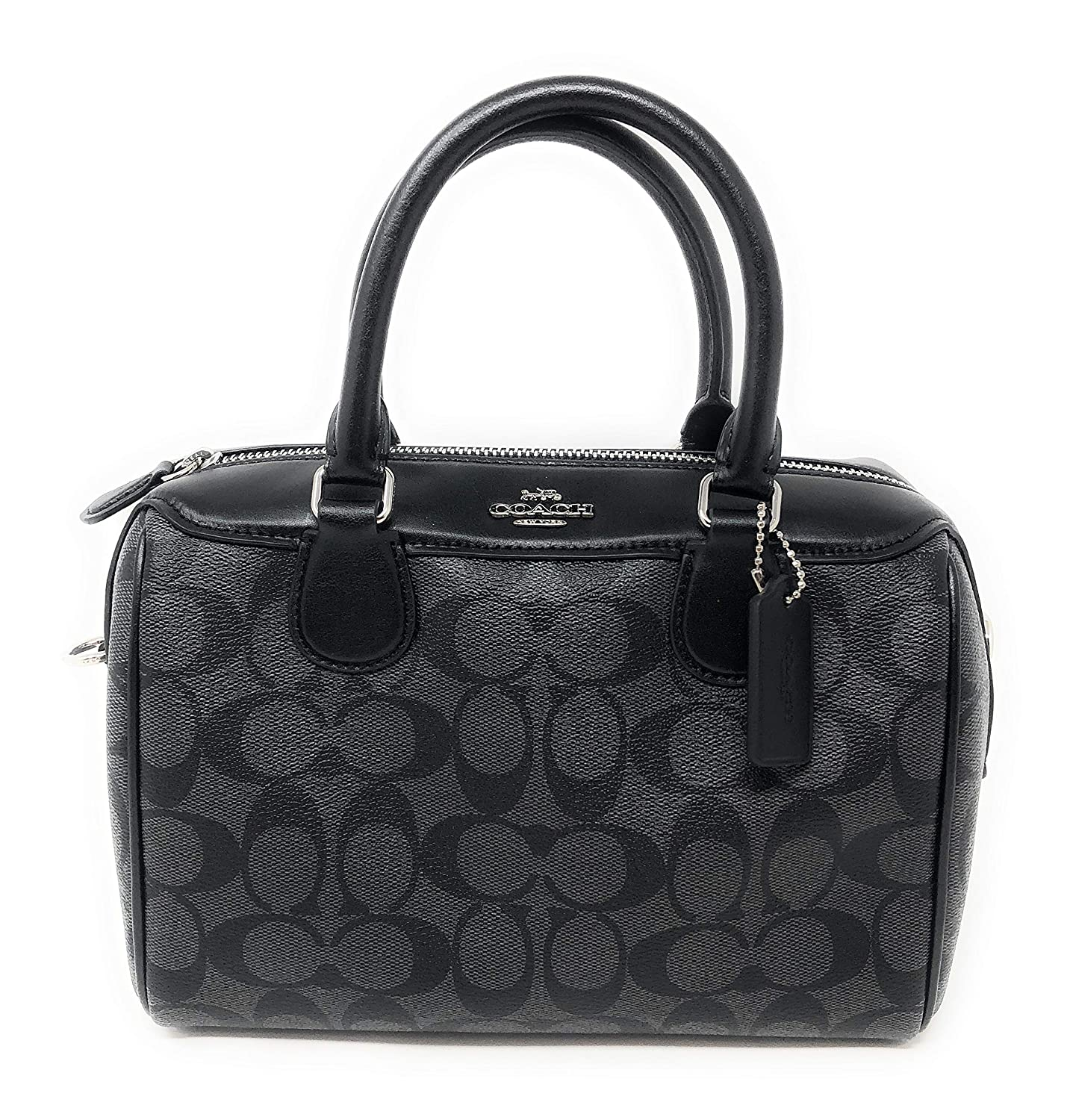 Amazon.com  New Coach Signature Mini Bennet Satchel (Black Grey)  Shoes 4b2f2492c5403