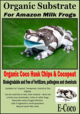 E Coco Products Uk Amazon Milk Frog Bedding Substrate Soil For
