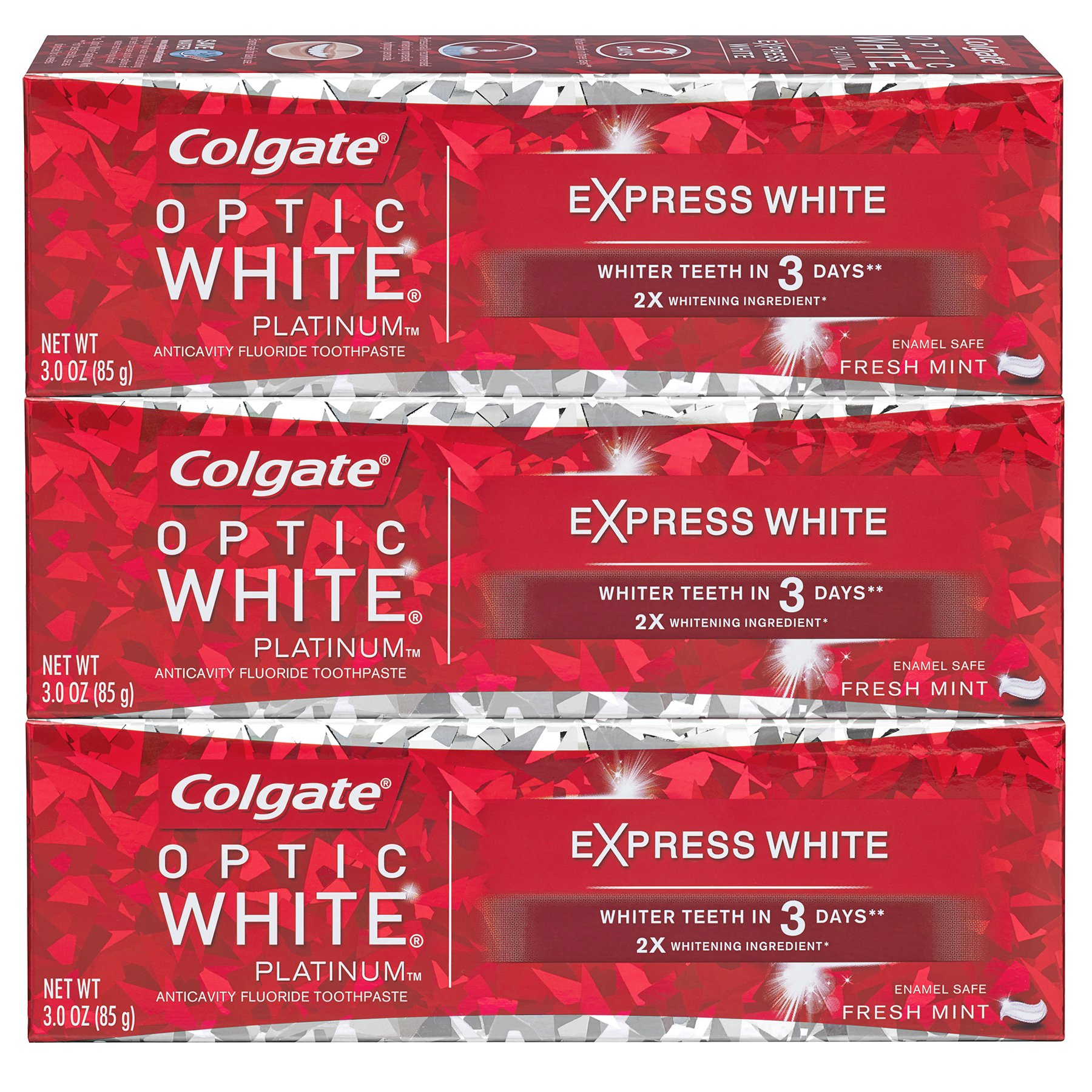 Colgate Optic White Express White Whitening Toothpaste - 3 ounce (3 Pack) by Colgate (Image #2)