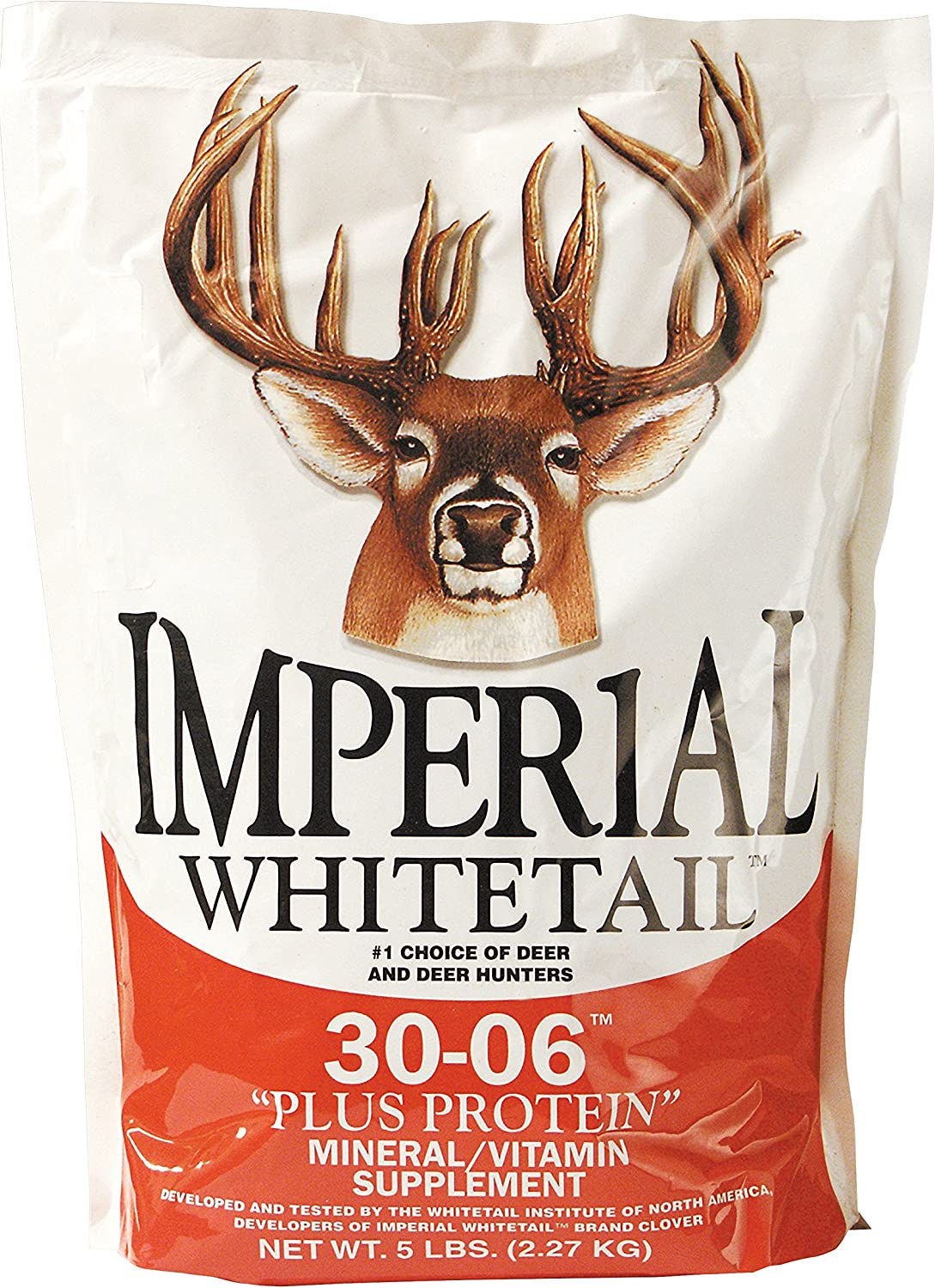 Whitetail Institute 30-06 Mineral and Vitamin Supplement for Deer Food Plots, Provides Antler-Building Nutrition and Attracts Deer