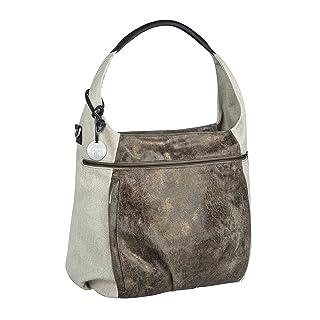 Lassig Casual Hobo Style Diaper Shoulder Bag Handbag Tote-Bag includes Matching Insulated Bottle Holder, wipeable Changing Mat, Stroller Hooks, Olive-Beige
