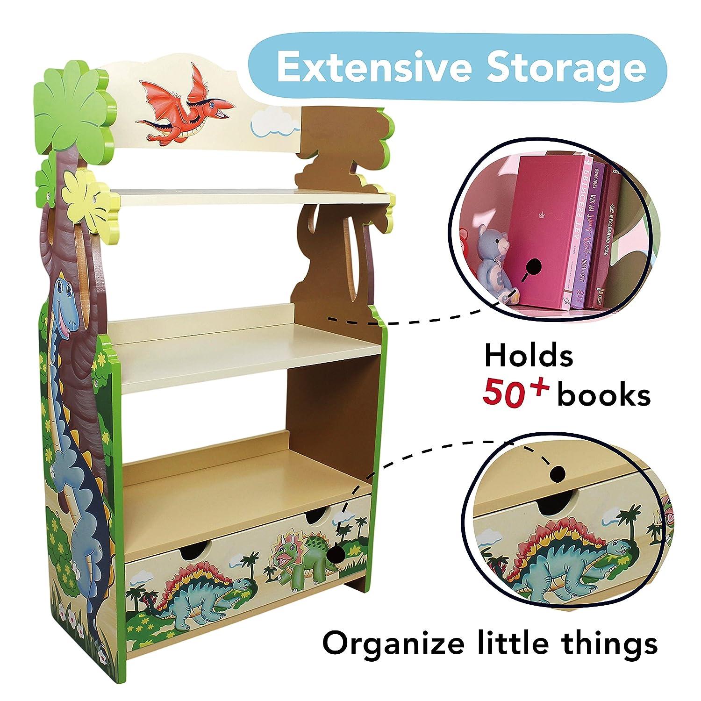 Teamson Kids Bookshelf/Bookcase - Dinosaur Kingdom Room Collection ...