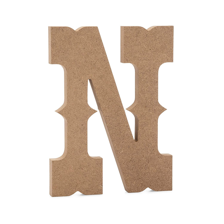 "6"" Western Wooden Letter N - Joepaul'S Crafts Premium Mdf Wood Wall Letters (6 Inch, N)"