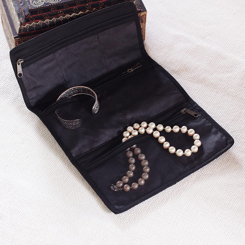 NOVICA Blue Cotton Jewelry Roll with 6 Pockets Denim Journey Denim Journey/' 278816