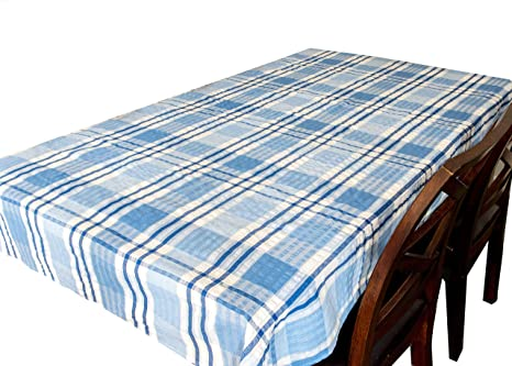 Cotton Seersucker Tablecloth Kitchen Dining Room Garden Check Table Linen Cover