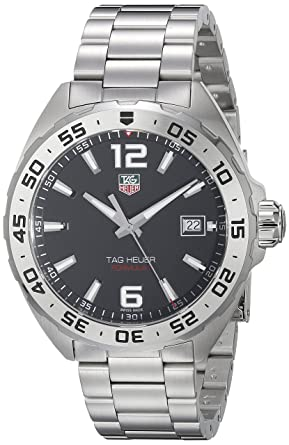 e5ecd9f9e611 Image Unavailable. Image not available for. Color  TAG Heuer Men s WAZ1112.BA0875  Formula 1 Stainless Steel Watch