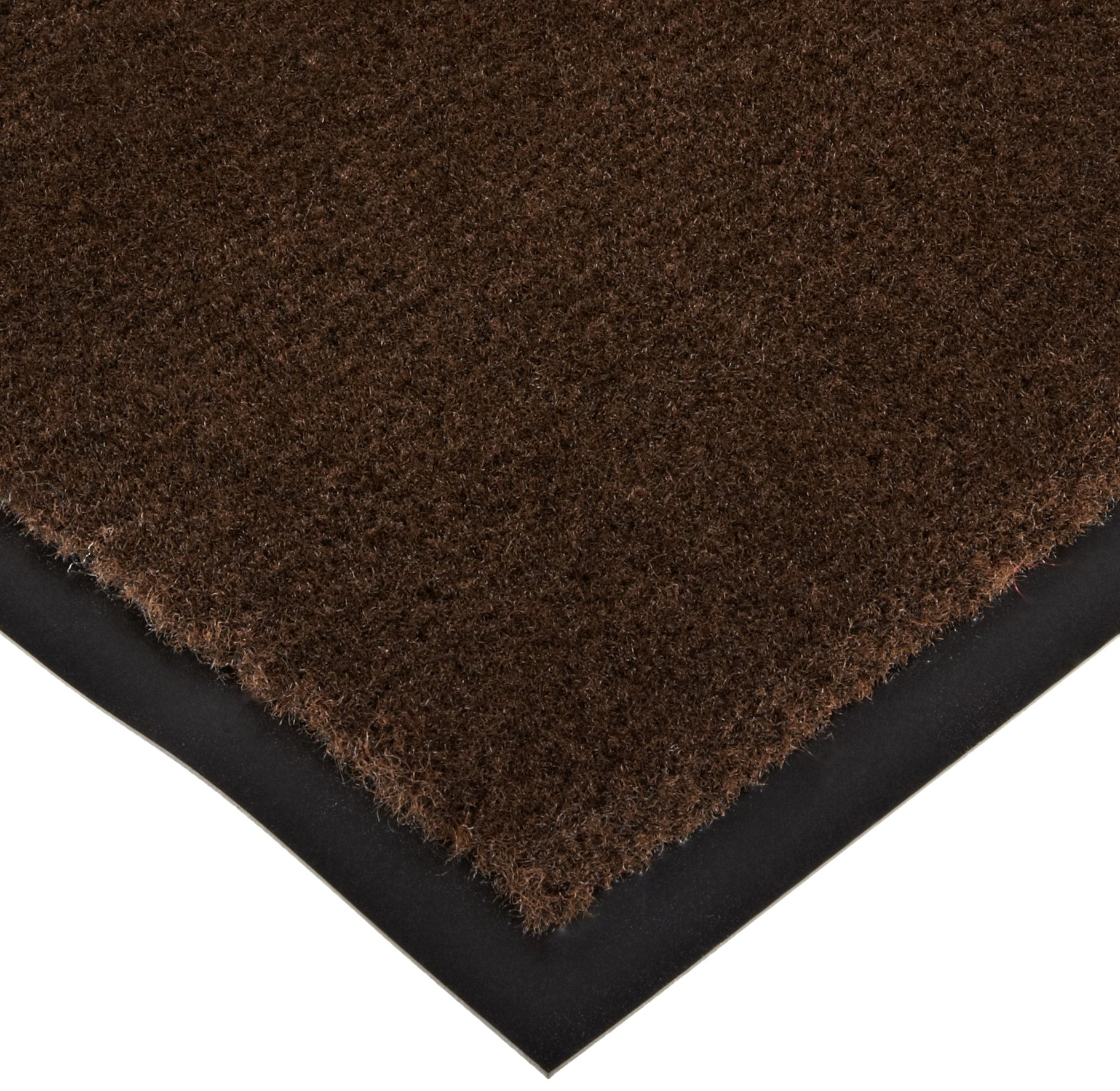 Notrax 130 Sabre Decalon Entrance Mat, for Entranceways and Light to Medium Traffic Areas, 3' Width x 5' Length x 5/16'' Thickness, Brown