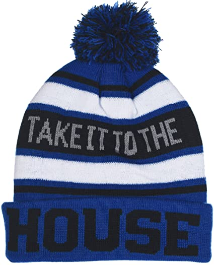 Polar Wear Boy s Cuffed Knit Hat with Pom and Personality Sayings in 6  Colors (House d1e80ba8d02