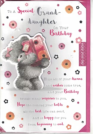 Granddaughter Birthday Card Wishes To A Lovely Cute Bears Presents