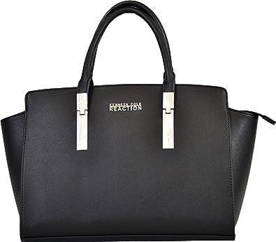Kenneth Cole Reaction Womens Silvera Embossed Satchel Handbag ...