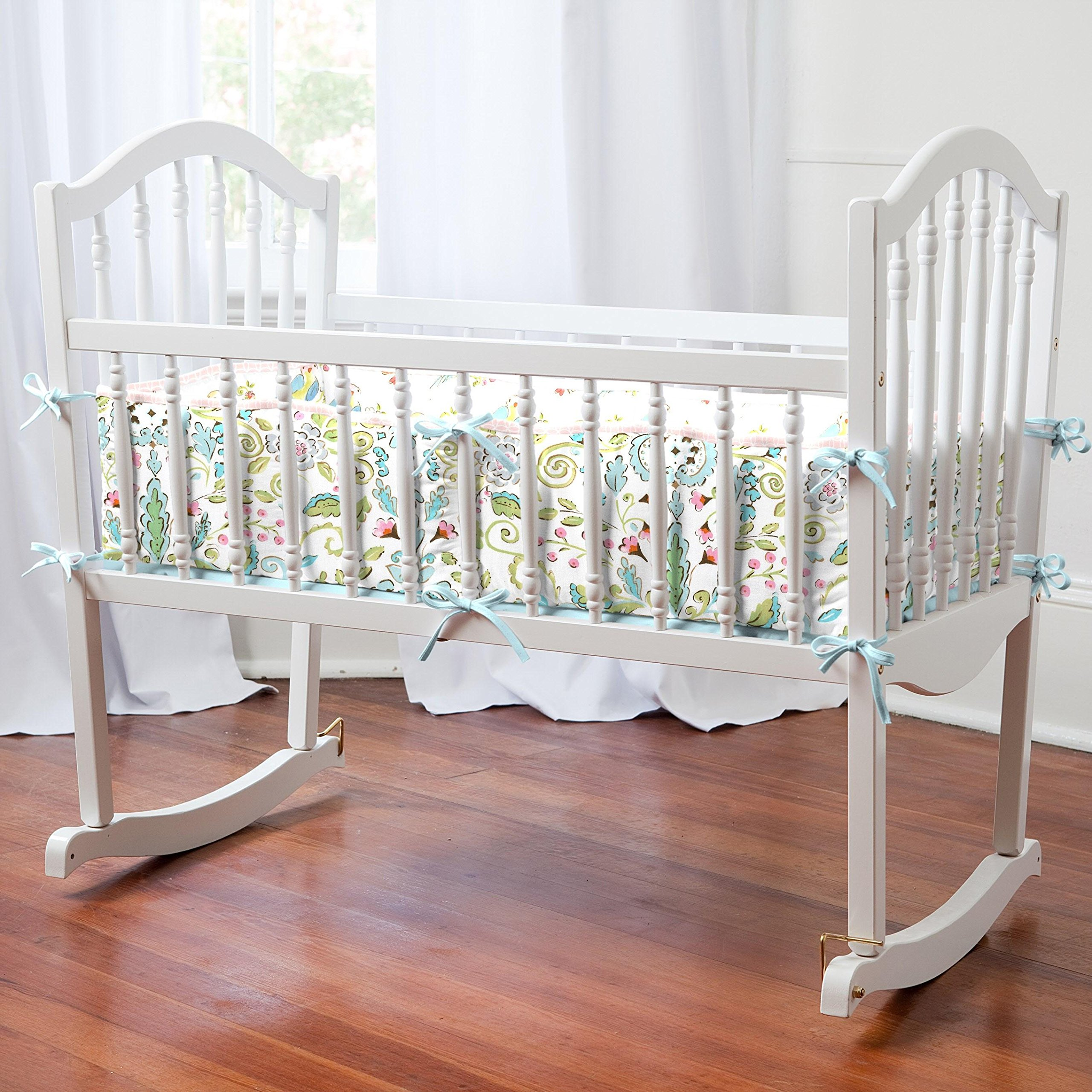Carousel Designs Love Birds Cradle Bumper