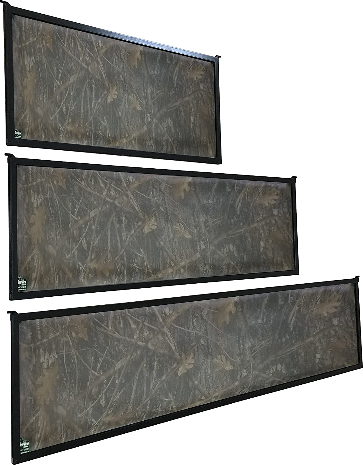 DeerView Hinge Blind Window - Clear, Grey Tint, Clear Camo, or Grey Tint  Camo
