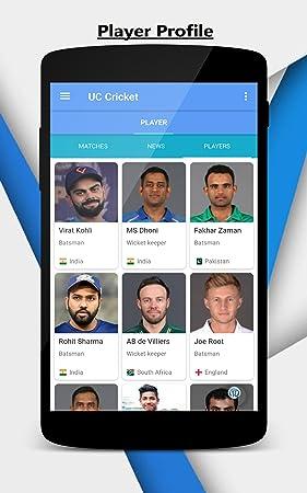 Amazon com: UC Cricket - Live Cricket Scores & News