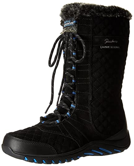Skechers Women's Descender Andes Winter Boot, Black, ...