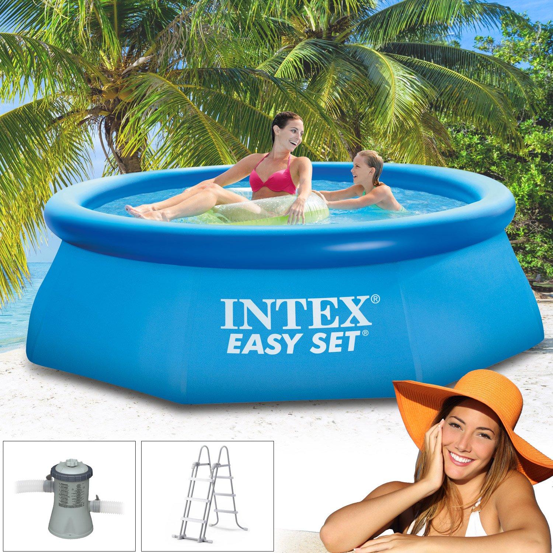 Intex 244 x 76 cm Pool 281123 Easy Set Incl. Bomba de filtro y ...
