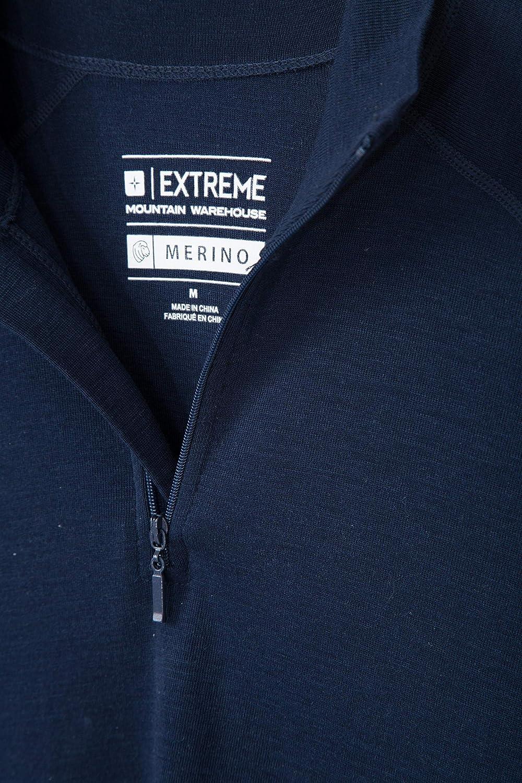 Mezza Zip Maglietta Comoda e Calda Traspirante Baselayer Termico a Maniche Lunghe da Uomo Mountain Warehouse Merino