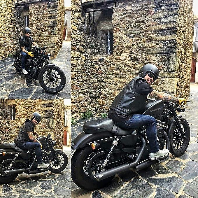 Black Tab Motorrad Lederweste Schwarz Soa Sons Of Anarchy Style Usa Büffelleder Xl 106cm Auto