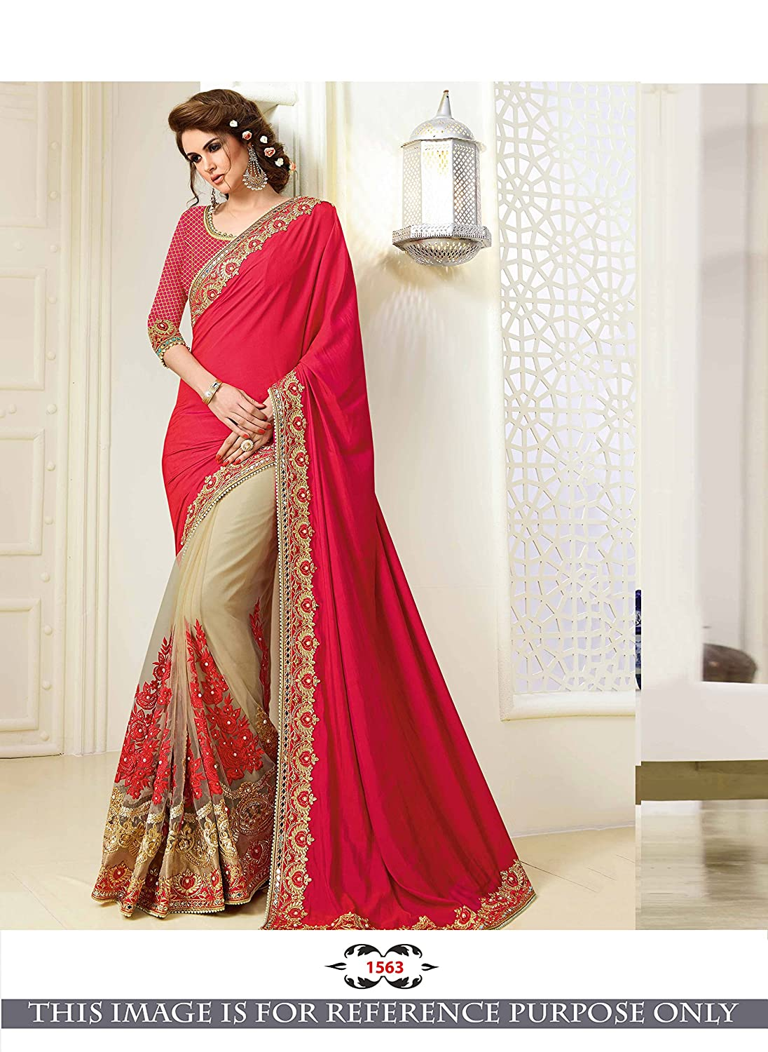 Women's Clothing Other Women's Clothing Traditional Georgette Saree Pakistani New Collection Clothing Sari Blouse Ethnic