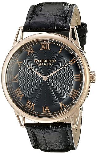 Rudiger Men s R2800-09-007 Ulm Analog Display Quartz Black Watch