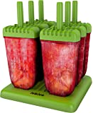 Lebice Popsicle Molds - BPA Free - 6 Ice Pop Makers