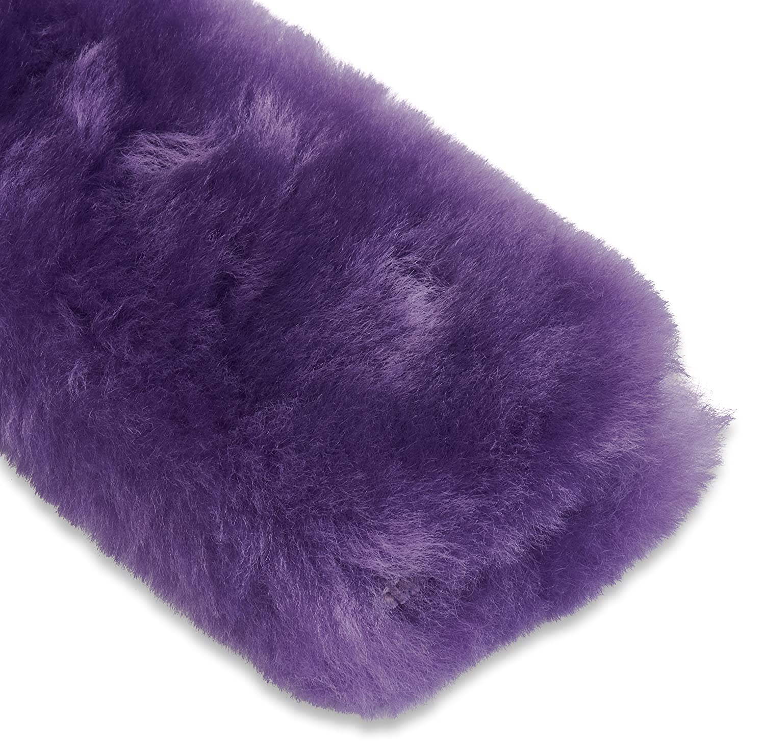 ANDALUS Seat Belt Covers for Adults Authentic Sheepskin Merino Wool Purple
