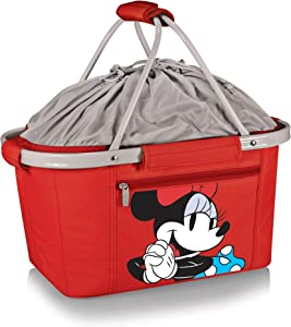 Disney Classics Minnie Mouse Metro Basket Collapsible Cooler, Red