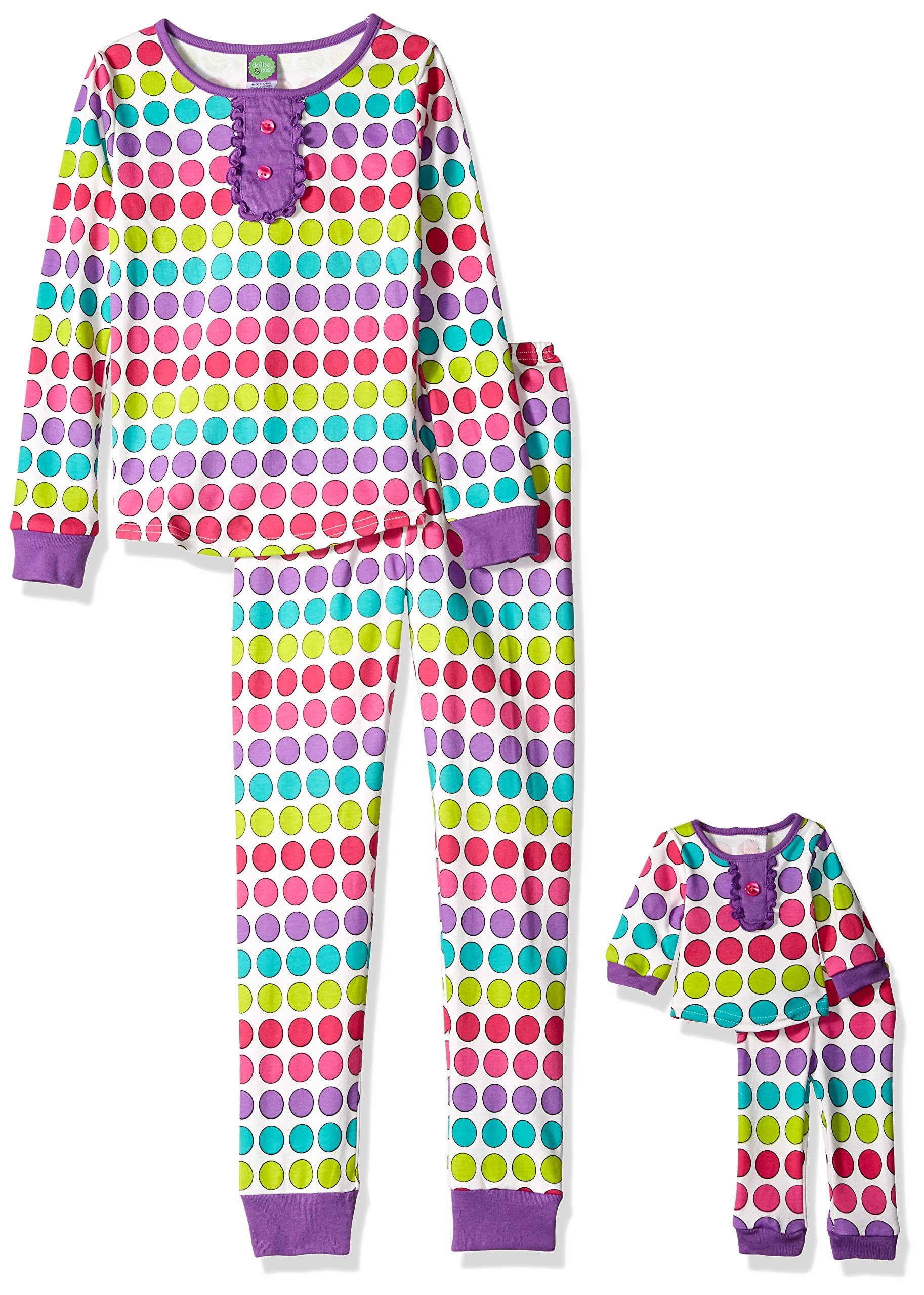 60afd93554 Galleon - Dollie   Me Little Girls  Polka Dot Snugfit Sleepwear Set ...