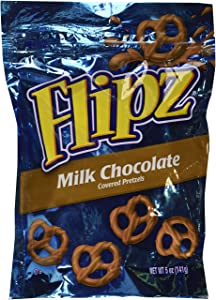 Flipz, Milk Chocolate Covered Pretzels, 5oz Bag Bag (Pack of 4)