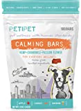 Dog Calming Bites - all Natural 180 Bars Human Grade Pet Anxiety Relief Treats with Hemp, Chamomile, Passion Flower, Vegetables and Fruits - Calm Food Chews Anti Stress Relaxing Supplements by Petipet