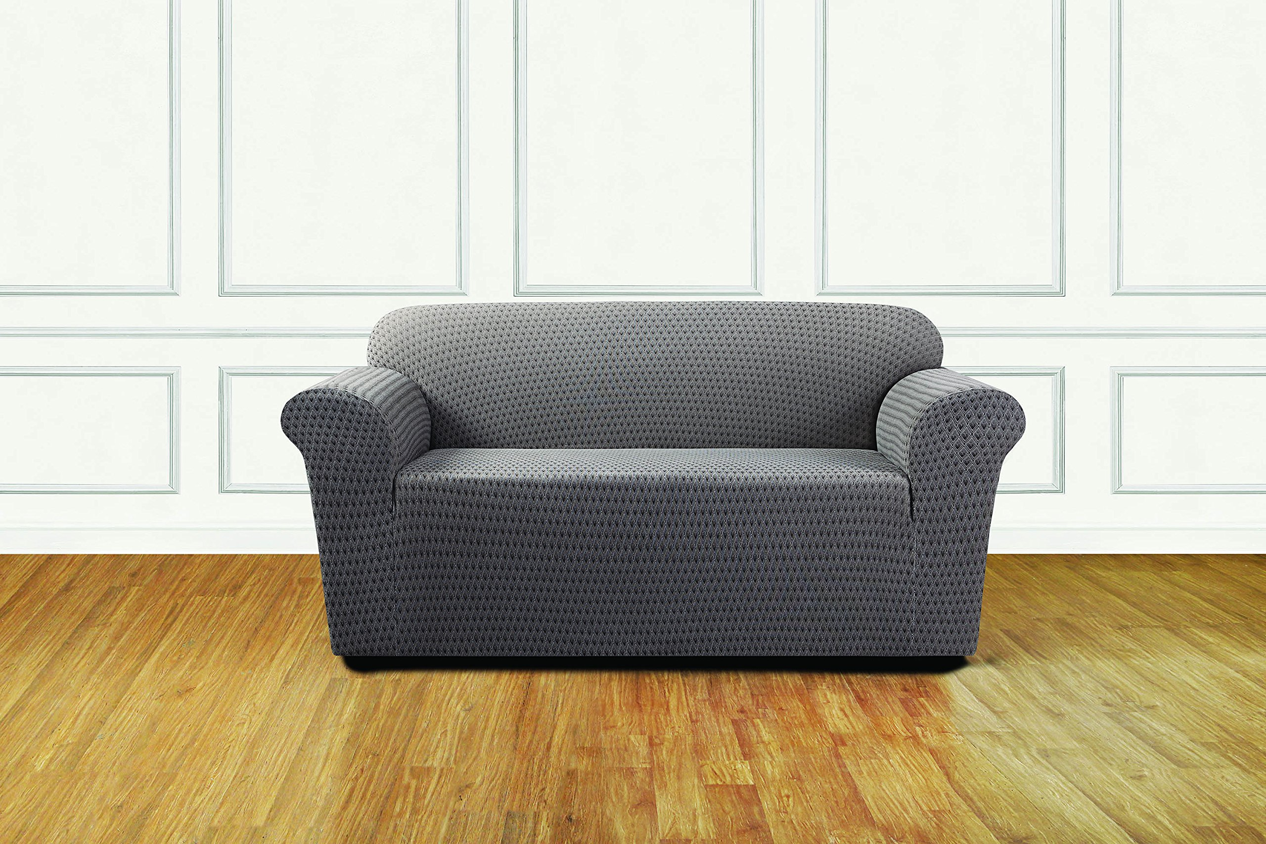 Sure Fit Stretch Sonya 1-Piece - Loveseat Slipcover  - Birch/Timber (SF45940) by Surefit (Image #3)